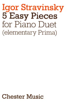 5 Easy Pieces. 4 Mains STRAVINSKY Partition Piano - laflutedepan