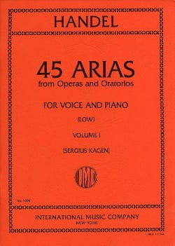 HAENDEL - 45 Arias Volume 1. Serious Voice - Partitura - di-arezzo.it