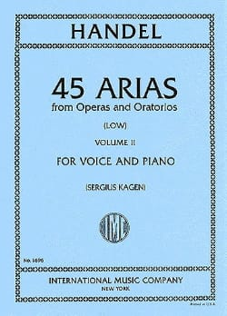 HAENDEL - 45 Arias Volume 2. Serious Voice - Partitura - di-arezzo.it