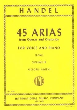 HAENDEL - 45 Arias Volume 3. Serious Voice - Sheet Music - di-arezzo.com