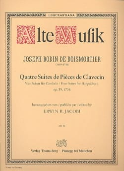 de Boismortier Joseph Bodin - 4 Suites de Pièces de Clavecin Opus 59 - Partition - di-arezzo.fr