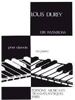 Louis Durey - 10 Inventions - Partition - di-arezzo.fr