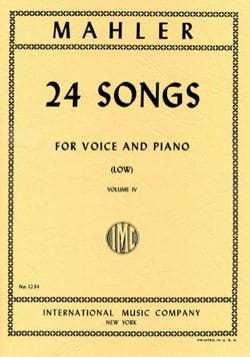 24 Songs Volume 4. Voix Grave MAHLER Partition Mélodies - laflutedepan