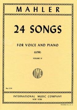 Gustav Mahler - 24 Songs Volume 4. Serious Voice - Sheet Music - di-arezzo.co.uk