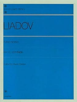 Anatoly Liadov - Piano Works - Partition - di-arezzo.com