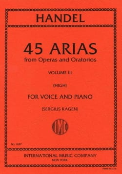 HAENDEL - 45 Arias Volume 3. High Voice - Sheet Music - di-arezzo.com