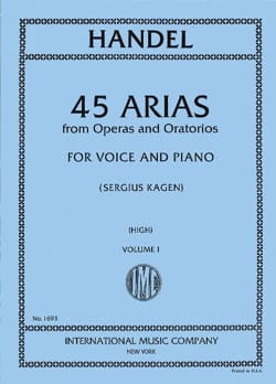 HAENDEL - 45 Arias Volume 1. High Voice - Sheet Music - di-arezzo.co.uk