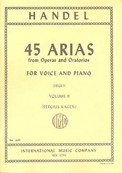 Georg-Friedrich Haendel - 45 Arias Volume 2. Voix Haute - Partition - di-arezzo.fr