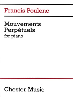 3 Mouvements Perpétuels POULENC Partition Piano - laflutedepan