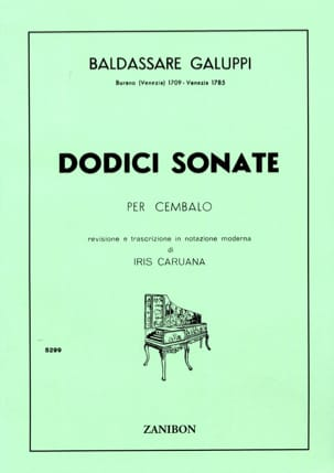 Baldassare Galuppi - 12 Sonatas - Sheet Music - di-arezzo.co.uk