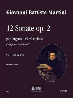 Giovanni Battista Martini - 12 Sonatas Opus 2 Volume 1 - Sheet Music - di-arezzo.co.uk