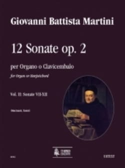 Giovanni Battista Martini - 12 Sonatas Opus 2 Volume 2 - Sheet Music - di-arezzo.co.uk