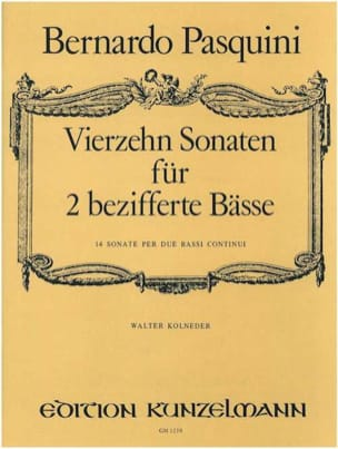 Bernardo Pasquini - 14 Sonatas For 2 Basses Encrypted - Sheet Music - di-arezzo.co.uk