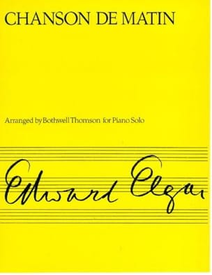 Edward Elgar - Chanson de Matin Op. 15-2 - Partition - di-arezzo.fr