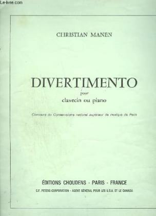 Manen - Divertimento - Partition - di-arezzo.fr