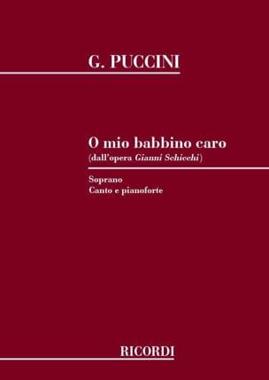 Giacomo Puccini - O Mio Babbino Caro. Gianni Schicchi - Sheet Music - di-arezzo.co.uk