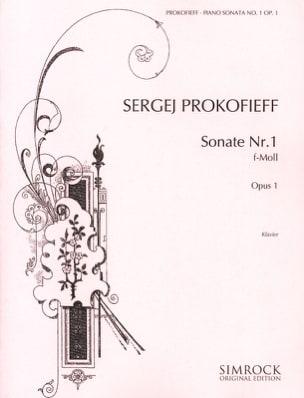 Sergei Prokofiev - Sonate pour piano n° 1 Opus 1 En Fa Mineur - Partition - di-arezzo.fr
