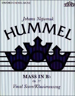 Messe En Si Bémol Opus 77 HUMMEL Partition Chœur - laflutedepan