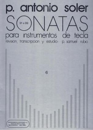 Sonates. Volume 6 Antonio Soler Partition Clavecin - laflutedepan