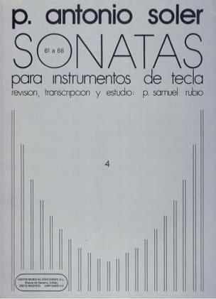 Sonates. Volume 4 - Antonio Soler - Partition - laflutedepan.com