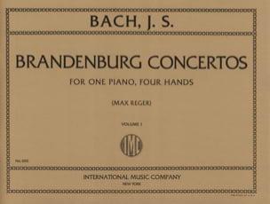 Concertos Brandebourgeois Volume 1. 4 Mains - BACH - laflutedepan.com