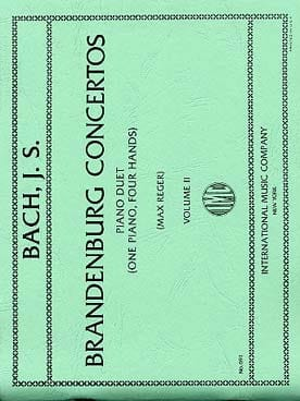 Concertos Brandebourgeois Vol 2. 4 Mains - BACH - laflutedepan.com