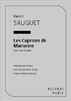 Henri Sauguet - The caprices of Marianne - Partition - di-arezzo.co.uk