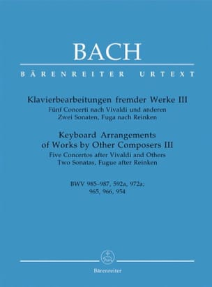 BACH - 5 Concertos And Other Pieces - Sheet Music - di-arezzo.co.uk
