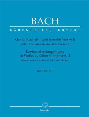 BACH - 7 Concertos After Vivaldi And Other Volume 2 - Sheet Music - di-arezzo.co.uk
