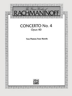 RACHMANINOV - Concerto Pour Piano N° 4 Opus 40 - Partition - di-arezzo.fr