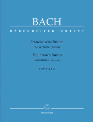 BACH - French Suites - Sheet Music - di-arezzo.co.uk