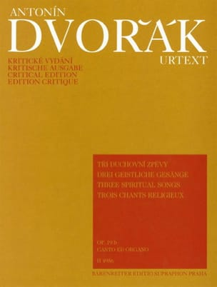 DVORAK - 3 Chants Religieux Opus 19b - Partition - di-arezzo.fr