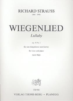 Richard Strauss - Wiegenlied Opus 41-1. Aloud - Sheet Music - di-arezzo.com