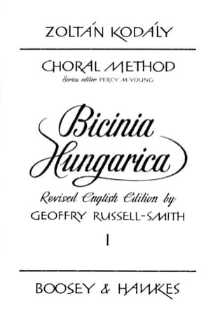 Zoltan Kodaly - Bicinia Hungarica Volume 1 - Partition - di-arezzo.fr