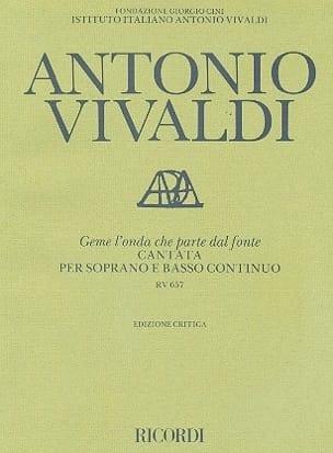 VIVALDI - Geme Onda Che Parte Dal Fonte RV 657 - Sheet Music - di-arezzo.co.uk