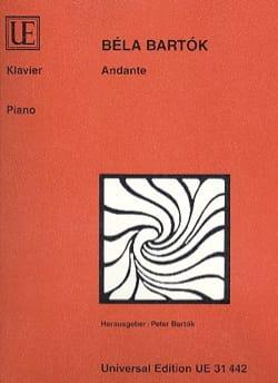 Bela Bartok - Andante - Partition - di-arezzo.fr