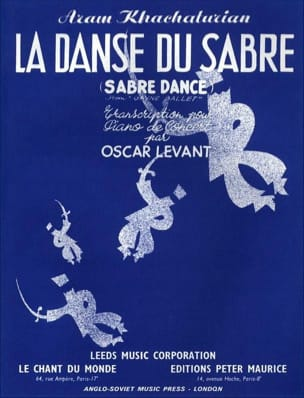 Aram Khatchaturian - Saber Dance - Sheet Music - di-arezzo.co.uk