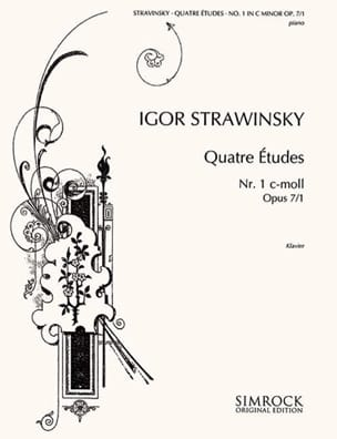 4 Etudes Opus 7-1 Igor Stravinski Partition Piano - laflutedepan