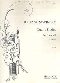 4 Etudes Opus 7-3 STRAVINSKY Partition Piano - laflutedepan