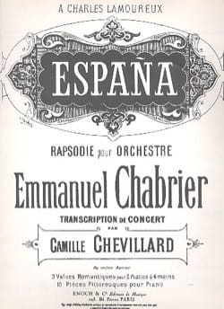 España - CHABRIER - Partition - Piano - laflutedepan.com