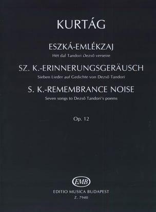 György Kurtag - Eszka- Emlekzaj Opus 12. - Partition - di-arezzo.fr