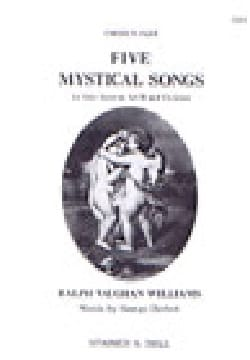 Williams Ralph Vaughan - 5 Mystical Songs. Choeur - Partition - di-arezzo.fr