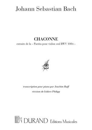 Chaconne BWV 1004 - BACH - Partition - Piano - laflutedepan.com
