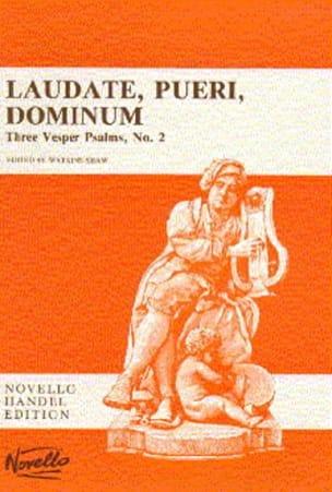 Laudate Pueri Dominum - HAENDEL - Partition - Chœur - laflutedepan.com