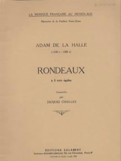 16 Rondeaux - Adam de la Halle - Partition - Chœur - laflutedepan.com