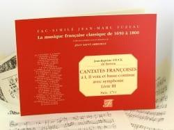 Cantates Françaises. Livre 3 - laflutedepan.com