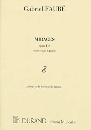 Gabriel Fauré - mirages - Sheet Music - di-arezzo.co.uk