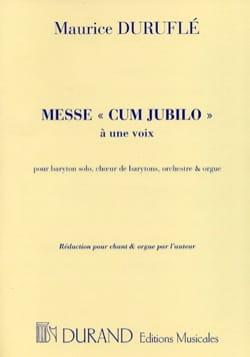 Messe Cum Jubilo Opus 11 DURUFLÉ Partition Chœur - laflutedepan