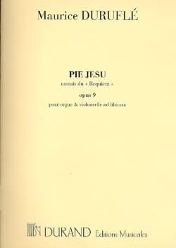 Maurice Duruflé - Pie Jesus Opus 9. Mezzo - Partition - di-arezzo.fr