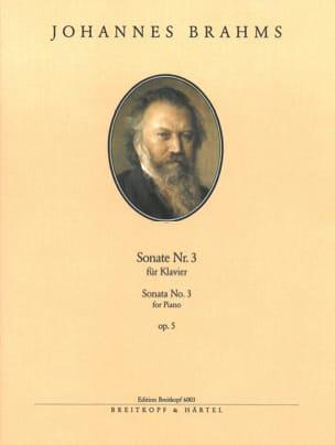 Sonate pour Piano n° 3 Opus 5 - BRAHMS - Partition - laflutedepan.com